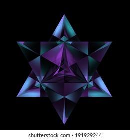 pyramid merkaba crystal star
