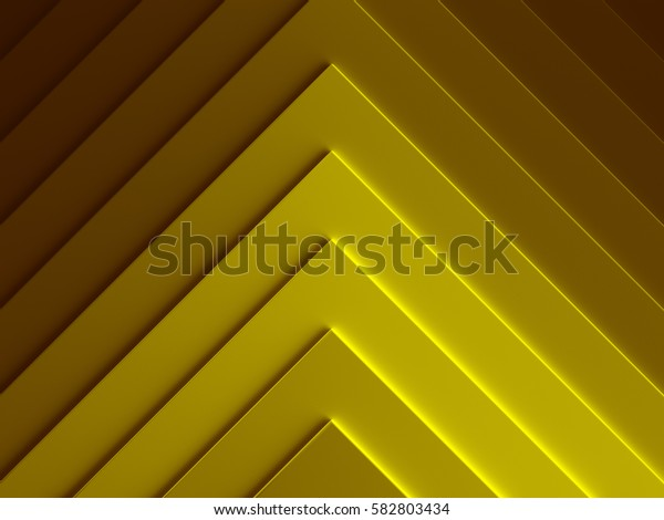 Pyramids. Golden abstract pattern for web template background, brochure cover or app. Material style. Geometric 3D illustration.