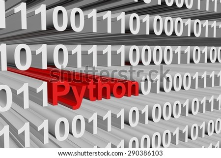 Python Form Binary Code 3 D Illustration Stock Illustration