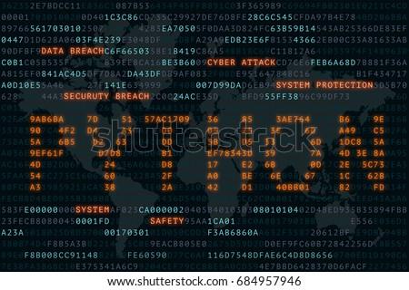 Python On Word On Screen Binary Stockillustration 684957946