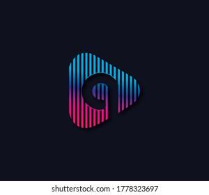 Q Alphabet Play Logo Design Concept