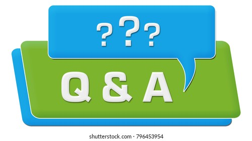 Q And A - Questions And Answers concept image with text and related symbols.