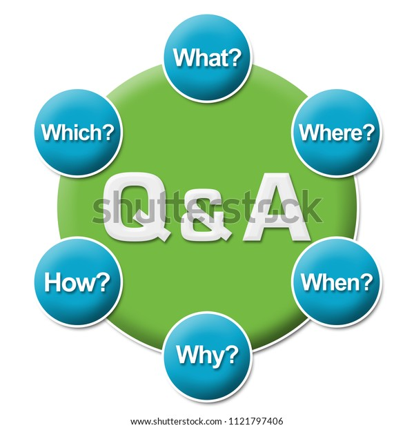 Q And A - Questions And Answers text written over blue green background.