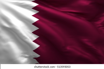 Qatar 3D Flag, Qatari Background Doha (3D Render)