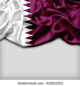 Qatar Abstract flag and Plain background