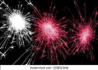 Qatar fireworks sparkling flag. New Year, Christmas and National day concept
