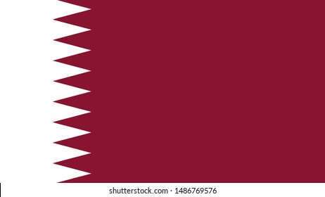 qatar Flag for Independence Day and infographic illustration