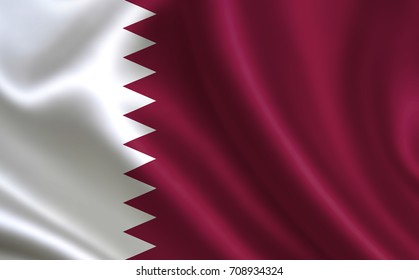 "Qatar flag. A series of ""Flags of the world."" (The country - Qatar flag)"