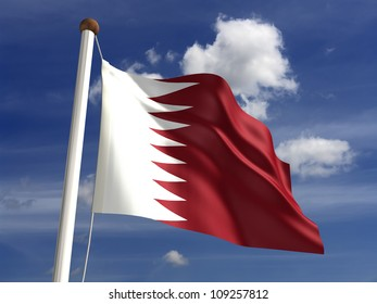 Qatar flag (with clipping path)