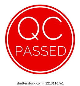 QC passed red label for business