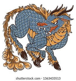 Qilin (Kirin) japanese mythological creature art