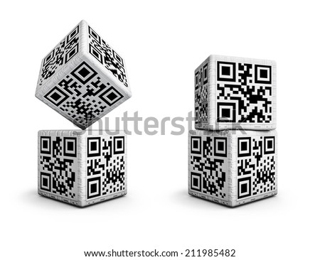 QR code dice with