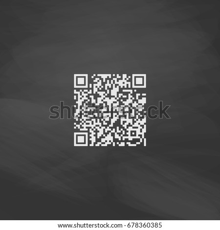 Qr Code Imitation Draw Icon White Stock Illustration 678360385