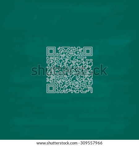 Royalty Free Stock Illustration Of Qr Code Outline Icon Imitation