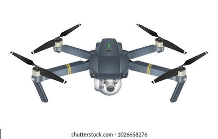 Quadcopter 3d illustration isolated on white