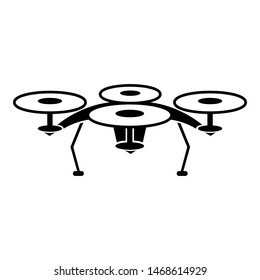 Quadcopter icon. Simple illustration of quadcopter icon for web design isolated on white background