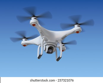 Quadrocopter drone with the camera