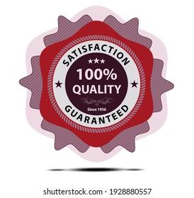 Quality certicate badge creative design in retro style