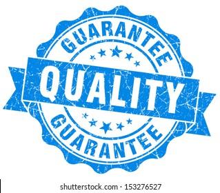 Quality Guarantee Grunge Blue Stamp