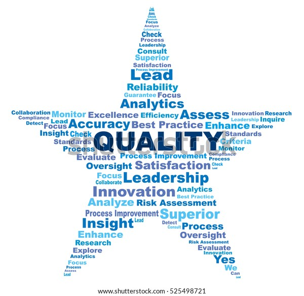 Quality Terms Star Shape Wordle Against Stock Illustration
