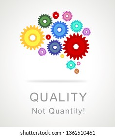 Quality Vs Quantity Icon Depicting Balance Between Product Or Service Superiority Or Production. Value Versus Volume - 3d Illustration