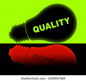 Quality Vs Quantity Lights Depicting Balance Between Product Or Service Superiority Or Production. Value Versus Volume - 3d Illustration