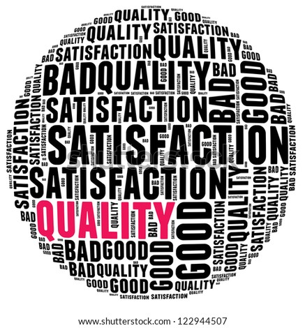 Quality Word Cloud Stock Illustration Royalty Free Stock