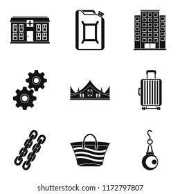 Quantity of money icons set. Simple set of 9 quantity of money icons for web isolated on white background