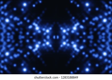 Quantum blue background. Digital cobalt backdrop. Sparkle virtual texture. Shiny surface design. Beautiful virtual reality. Abstract cyberspace with copy space. Microcircuit close-up. Digital element.