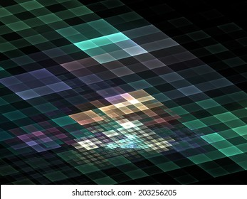 Quantum checkerboard � abstract science/technology background