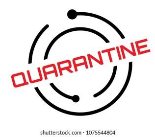 Quarantine typographic label, sign. Clean modern series.
