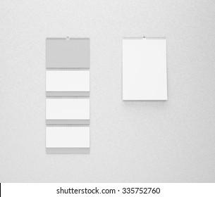 Quarter and wall calendar mock up for your design presentation