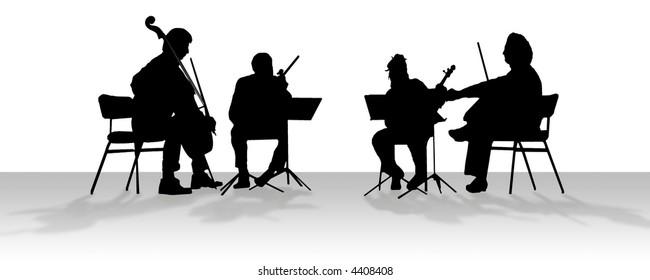 Quartet in silhouette