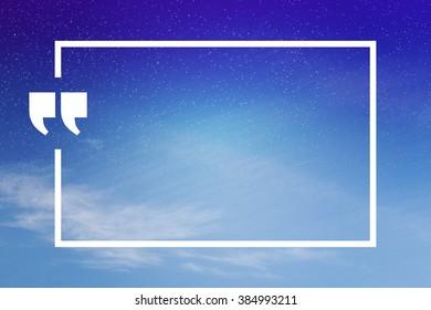 Quatation Mark Background