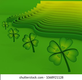 Quatrefoil on  abstract background