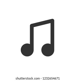 quaver note isolated simple icon