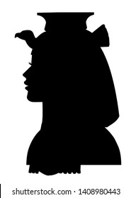 queen Cleopatra silhouette Egyptian princess