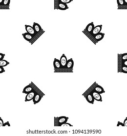 queen crown pattern repeat seamless black stock vector royalty free