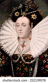 Queen Elizabeth I (1533-1603), Queen of England, 1558-1603.