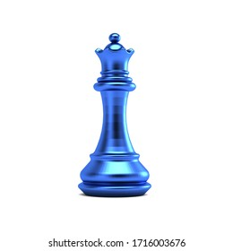 Queen piece of chess. 3D Render graphic illustration