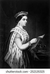 Queen Victoria (1819-1901), Queen of Great Britain and Ireland 1837-1901, Empress of India 1876-1901.