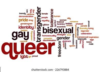Queer word cloud concept