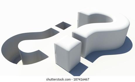 question mark - ask question - imprint - 3d printing - print - vise versa