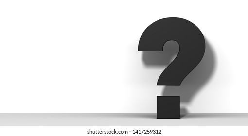 question mark black 3d interrogation point query sign
