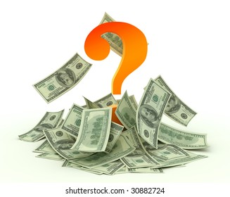 A question mark and dollars. Money should work