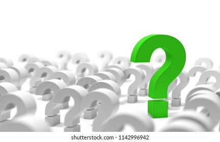 Question mark isolated over white background.Concept of doubts and questions.Question icon.3d illustration