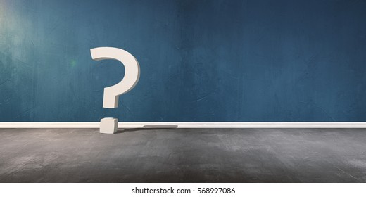Question mark on background, three-dimensional rendering, 3D illustration