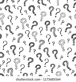 Question Mark Seamless Pattern Background