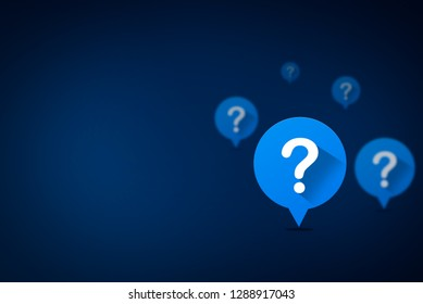 Question mark speech bubble concept, 3D illustration