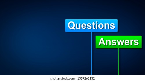 Questions and answers  concept, 3D rendering